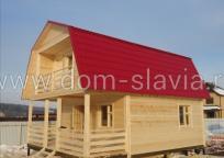 Дом из профилированного бруса размером 6х8м .