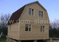 Дом 6х6м тип крыши ломанная.
