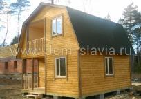 дом 6х6м с балконом и террасой