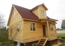 Дом из бруса 6х8м проект Владимир.