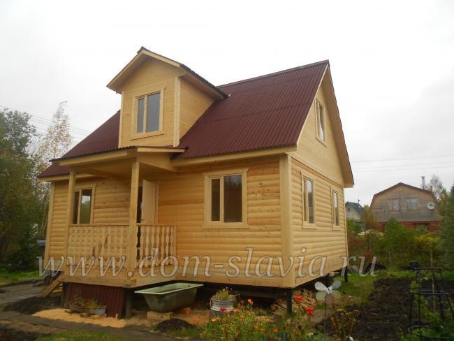 Дом из бруса 6х8м с кукушкой Дом-Славия.