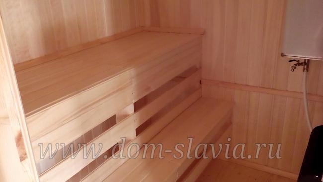 Пологи в парильной баня 4х4м. www.dom-slavia.ru